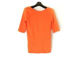 【新着】RalphLauren(ラルフローレン) 七分袖Tシャツ サイズS レディース オレンジ【20190924】【中古】