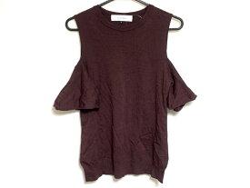 【新着】LE CIEL BLEU(ルシェルブルー) セーター サイズ36 S レディース ボルドー【20200110】【中古】