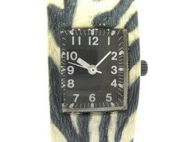 【新着】ZUCCA(ズッカ) 腕時計 V401-6310 レディース CABANE de ZUCCA/型押し加工 黒【20200721】【中古】