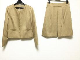 【新着】ANAYI(アナイ) スカートスーツ サイズ38 M レディース美品■ ゴールド【20201022】【中古】
