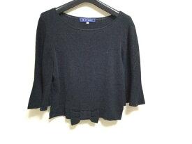 【新着】M'S GRACY(エムズグレイシー) 七分袖セーター サイズ38 M レディース ネイビー リボン/ショート丈【20201228】【中古】