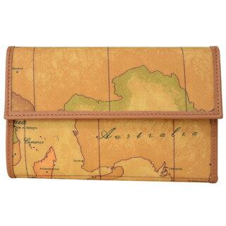 プリマクラッセ 財布 三つ折り 財布 小銭入れ付き W017 6000 Geo Classic ジオクラシック  世界地図柄 マップ柄 ベージュ系 【あす楽対応_関東】
