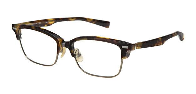 【新品】フォーナインズ999.9眼鏡フレーム M-27 6503 マルーンデミ×アンティークゴールド セル ケース付き n46