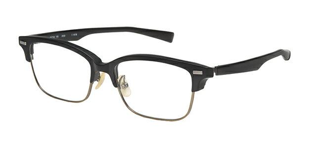 【新品】フォーナインズ999.9眼鏡フレーム M-27 9103 ブラックマット×アンティークゴールド セル 純正ケース付き e44