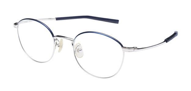 【新品】フォーナインズ999.9眼鏡フレーム S-680T カラー2 シルバー セル ケース付き a25