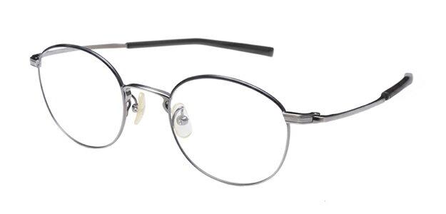 【新品】フォーナインズ999.9眼鏡フレーム S-680T カラー4 アンティークシルバー セル ケース付き a27