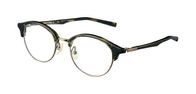 【新品】フォーナインズ999.9眼鏡フレーム M-45 6943 ダークオリーブササ×アンティークゴールド ミックスフレーム 純正ケース付き e61