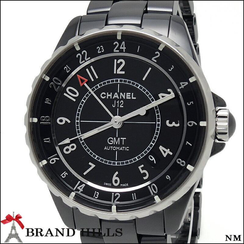 【美品】シャネル J12 38mm GMT ブラックセラミック メンズ 自動巻き 腕時計 H3012 CHANEL 【中古】