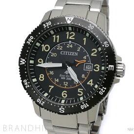 シチズン プロマスター LAND 腕時計 メンズ エコドライブ SS ブラック文字盤 BJ7094-59E CITIZEN 未使用品 【中古】
