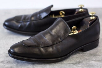 GIORGIO ARMANI business shoes Armani cobra vamp loafer slip-ons