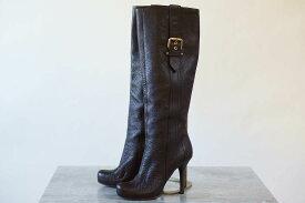 Louis Vuitton ブーツ ヴィトン MA0160 ロングブーツ シボ革 シュリンクレザー 【中古】