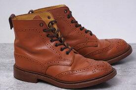 Tricker's ブーツ トリッカーズ L2508 MALTON モールトン Brogue Boots 定番 カントリーブーツ 【中古】