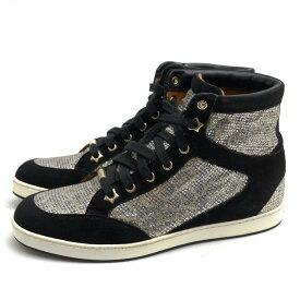 ジミーチュウ/Jimmy Choo/143Tokyo Leopard Print Glitter Sneaker ハイカットスニーカー 【中古】