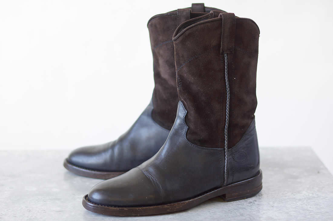 BUTTERO ブッテロ/boots/shoe/靴 ブーツ B1173 DALLAS ウエスタンブーツ ローパーブーツ 【中古】【BUTTERO】