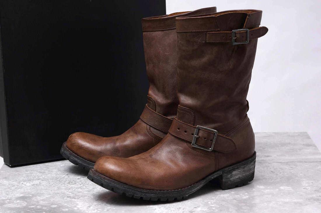 ATTACHMENT アタッチメント/boots/shoe/靴 ブーツ AA82-425 バケッタレザーエンジニアブーツ 【中古】【ATTACHMENT】