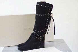 Jimmy Choo ジミーチュウ/boots/shoe/靴 ブーツ 102WALK ロングブーツ スタッズ ストラップ 【中古】【Jimmy Choo】