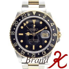 浦上店【ROLEX/ロレックス】GMTマスター/GMT Master16753 8番 黒文字盤 SS メンズ腕時計  ブラック ベゼル 黒OH・磨き仕上げ済み、アンティーク ヴィンテージ【中古】【送料無料】楽天