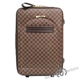 fa048b5bb0 中古 BCランク ルイ・ヴィトン ペガス55 N23294 ダミエ キャリーケース LOUIS VUITTON ヴィトン スーツケース トロリー  旅行カバン 旅行バッグ  中古