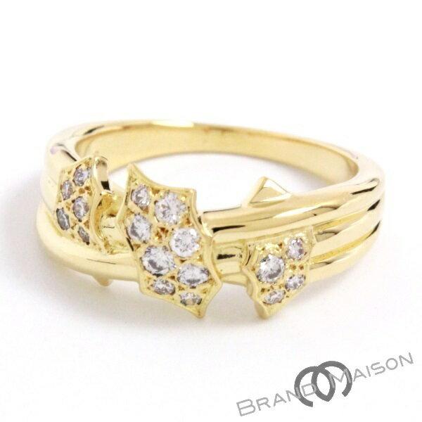 Aランク ミキモト ダイヤモンドリング K18YG 指輪 ジュエリー レディース アクセサリー イエローゴールド MIKIMOTO 【中古】