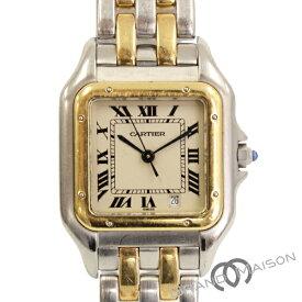 ABランク カルティエ パンテールMM 腕時計 183949 750YG アイボリー文字盤 CARTIER クォーツ 【中古】