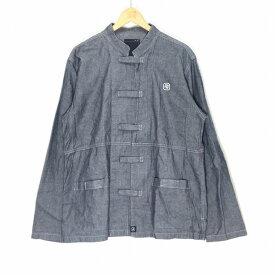NEIGHBORHOOD ネイバーフッド NFロゴ カンフーシャツジャケット サイズLARGE ダークグレー 99年 長袖 メンズ 中古 消費税込 送料無料【Y】