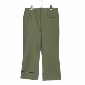 Acne Studios Boot Cut Trousers - Hunter Green アクネステュディオズ ブーツカットトラウザー サイズ46 カーキ FN-MN-TROU000003 クロップド シューカットパンツ 中古 消費税込 送料無料【Y】