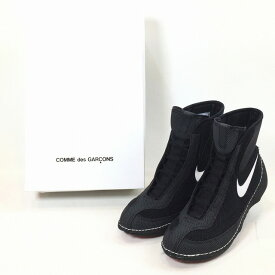 NIKE COMME des GARCONS ナイキ コムデギャルソン 2018年 春夏 18SS Heeled Machomai Boxing Boot CdG ヒール ボクシング シューズ コラボ Wネーム ダブルネーム 限定 即完 希少 レア 箱付き 美中古 消費税込 送料無料 【Y】
