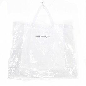 COMME des GARCONS コムデギャルソン PVC LOGO TOTE BAG ロゴ トートバッグ クリア 中古 消費税込【Y】