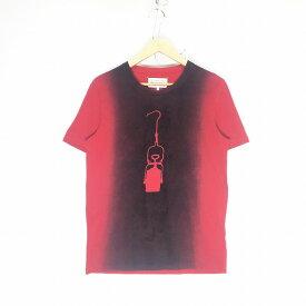 Maison Martin Margiela メゾン・マルタン・マルジェラ 14AW Spray print T サイズ44 レッド Tシャツ メンズ 半袖 中古 消費税込 送料無料【Y】