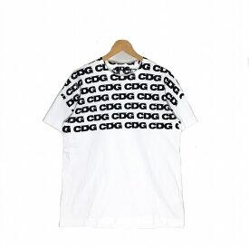 CDG シーディージー HAND PRINT T-Shirt サイズL ホワイト ハンドプリント Tシャツ COMME des GARCONS コムデギャルソン 半袖 中古 消費税込【Y】