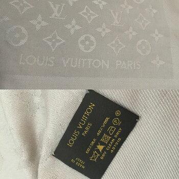 【LouisVuitton】ルイ・ヴィトンモノグラム大判ストールシルク/ウール/M71336/ショール/150cm/ベージュ/ヴィトン【中古】【消費税込】【送料無料】