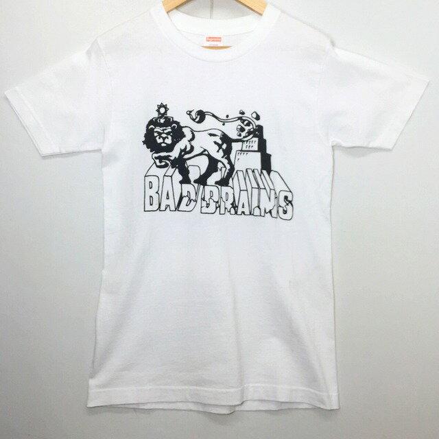 SUPREME シュプリーム 08SS BAD BRAINS BOX LOGO TEE 2008年春夏 バッドブレインズ ボックス ロゴ Tシャツ Sサイズ ホワイト プリント 中古 消費税込み 送料無料 【Y】
