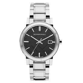 【数量限定】バーバリー 時計 メンズ 腕時計 The City シティ デイカレンダー シルバー ブラック BU9001 ビジネス 男性 ブランド 誕生日 お祝い プレゼント ギフト お洒落