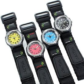 CACTUS カクタス キッズ ウォッチ 国内正規品 おしゃれ 男の子 女の子 防水 こども 腕時計 マジックテープ ナイロンベルト 時計 勉強 卒園祝い 入学祝い 孫の日 誕生日プレゼント