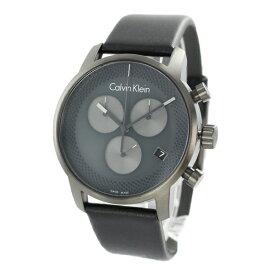 CALVIN KLEIN カルバンクライン 時計 メンズ 腕時計 シティ 男のクロノグラフ ダークグレー ブラック おしゃれな色 レザー ウォッチ K2G177C3 誕生日 お祝い ギフト