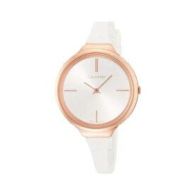 カルバンクライン CK スイス製 時計 レディース 腕時計 Lively ローズゴールド ホワイト ラバー シンプル 細身 K4U236K6 誕生日 お祝い ギフト