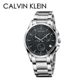 カルバンクライン CK 時計 メンズ 腕時計 BOLD ボールド クロノグラフ ブラック×シルバー ステンレス K5A27141 誕生日プレゼント