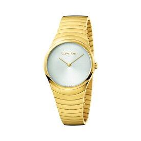 【最大10,000円OFFクーポン】カルバンクライン CK スイス製 時計 レディース 腕時計 Whirl シルバー ゴールド ステンレス ブレスレット K8A23546 誕生日プレゼント