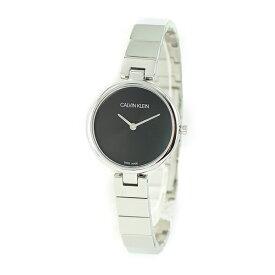 CALVIN KLEIN カルバンクライン スイス製 レディース 腕時計 小ぶり 小さい時計 ブラック 黒 シルバー ブレスレット シンプル K8G23141 誕生日 お祝い ギフト