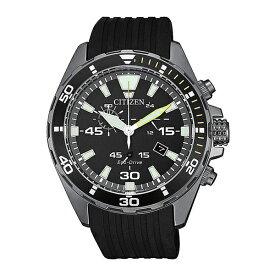 海外モデル CITIZEN シチズン 時計 メンズ 腕時計 Eco-Drive エコドライブ ソーラー クロノグラフ 43ミリ ブラック ラバー AT2437-13E 誕生日プレゼント