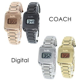 選べる4カラー コーチ 腕時計 プレゼントにおすすめ 女性 女友達 ママ友 母親 誕生日 オシャレ ブランド Darcy Digital レディース レトロ デジタル ローズゴールド ブレスレット ウォッチ