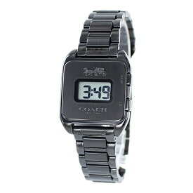 オシャレ ブランド 腕時計 コーチ プレゼントにおすすめ!女性 女友達 ママ友 母親 誕生日 Darcy Digital レディース レトロ デジタル ブラック ブレスレット ウォッチ