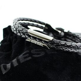 【最大10,000円OFFクーポン】ディーゼル 男性 女性 プレゼント メンズ レディース レザー ブレスレット ユニセックス ペアでも使える シンプル ブラック 革のアクセサリー DIESEL