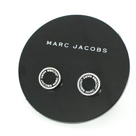 Marc Jacobs マークジェイコブス ロゴ ピアス まるいピアス レディース 女性 ブランド アクセサリー ブラック×シルバー M0008544-068 アクセサリー 誕生日 お祝い ギフト