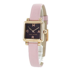 マークジェイコブス 時計 レディース 女性用 腕時計 ボルドー ピンクレザー 革ベルト 正方形 かわいい 小さい時計 MJ1640 誕生日プレゼント