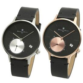 国内正規品 サルバトーレマーラ 腕時計 ペアウォッチ メンズ レディース 男女兼用 ブラック シンプル モダン ペア 時計 SM20105-SSBKSM20105-PGBK 誕生日 お祝い ギフト