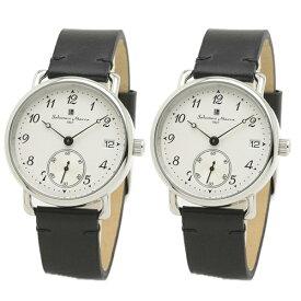 国内正規品 サルバトーレマーラ 腕時計 ペアウォッチ メンズ レディース 男女兼用 ブラック シンプル レトロ ペア 時計 SM20106-SSWH/BKSM20106-SSWH/BK 誕生日 お祝い ギフト