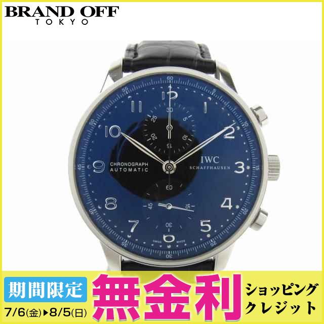 【最大24回まで無金利】【セール】 【中古】 インターナショナル・ウォッチ・カンパニー ポルトギーゼ クロノ 腕時計 ウォッチ 時計 メンズ レザーベルト x (SS) (IW371447) | 送料無料 メンズ腕時計 ブランド腕時計 ブランド おしゃれ