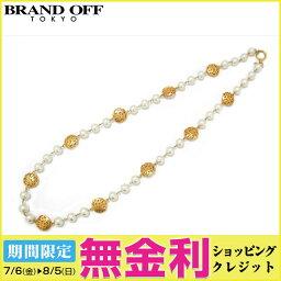 Auth CHANEL 香奈兒 Artificial Pearl 項鍊 GP Artificial Pearl 白色 Used   BRANDOFF 柏歐福