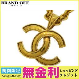 Auth CHANEL 香奈兒 CC 項鍊 Pendant plating Gold Used Vintage   BRANDOFF 柏歐福